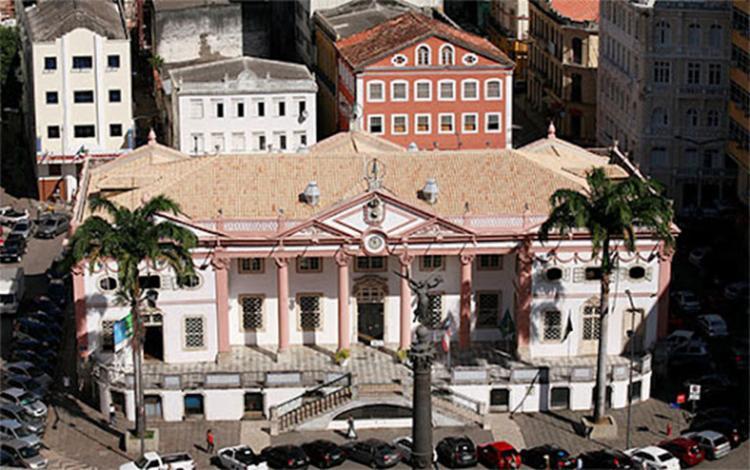 A sede da Associação Comercial da Bahia foi inaugurada em 1817, no bairro do Comércio | Foto: Acervo ACB - Foto: Acervo ACB
