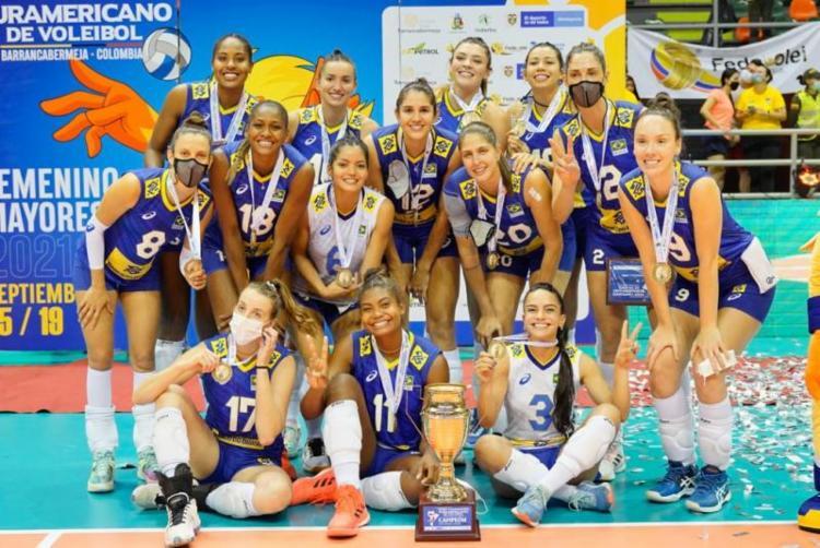 A seleção brasileira feminina ficou com título pela 22ª vez | Foto: Divulgação | Inderbarranca - Foto: Divulgação | Inderbarranca