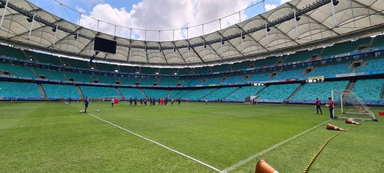 Tricolor não atua com público no estádio desde o dia 7 de março de 2020 | Foto: Felipe Oliveira | EC Bahia - Foto: Felipe Oliveira | EC Bahia