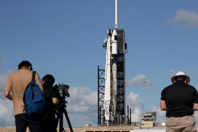Os quatro turistas americanos na missão Inspiration4 passarão três dias orbitando a Terra | Foto: Joe Raedle | Getty Images via AFP - Foto: Joe Raedle | Getty Images via AFP