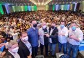 Coronel e Antonio Brito participam do lançamento da candidatura de Pacheco à presidência | Foto: Divulgação