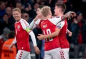 Dinamarca é a segunda seleção europeia classificada para a Copa de 2022 | Foto: Liselotte Sabroe | AFP