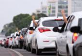 Motoristas por aplicativo fazem protesto nesta sexta-feira pelo preço do combustível | Foto: Marcelo Camargo I Agência Brasil