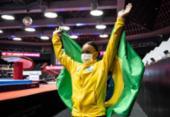 Rebeca Andrade é ouro no salto e prata nas barras do Mundial de ginástica | Foto: Philip Fong | AFP