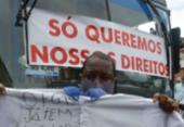 Rodoviários do antigo CSN fazem protesto por direitos trabalhistas em Salvador | Foto: Rafael Martins | Ag. A TARDE