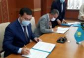 Rui Costa assina acordo de parceria comercial e científica no Cazaquistão | Foto: ASCOM/GOVBA