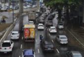 Chuva causa alagamentos, transtornos e complica o trânsito em Salvador | Foto: Shirley Stolze | Ag. A TARDE