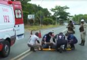 Motociclista fica ferido em colisão na Estrada do Derba | Reprodução | TV Bahia