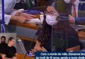 Intérprete de Libras se emociona na CPI e é substituído | Reprodução/ Tv Senado