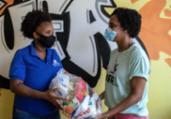 Corrente do bem garante comida a crise da pandemia | Uendel Galter/ Ag A Tarde