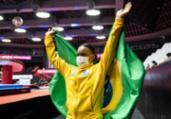 Rebeca conquista ouro e prata no Mundial de ginástica | Philip Fong | AFP
