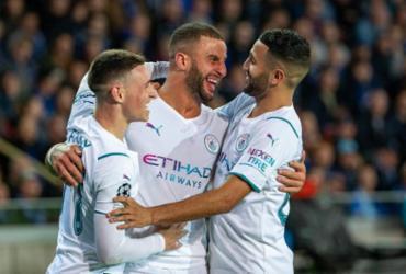 Manchester City goleia Club Brugge pela Liga dos Campeões | AFP