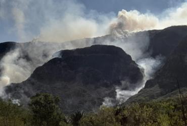 Incêndio na Chapada Diamantina avança pelo Parque das Sete Passagens | Reprodução/ Aspaff Chapada Norte
