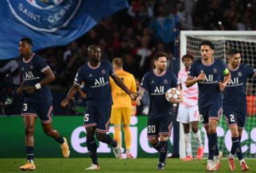 Com dois de Messi, PSG bate de virada RB Leipzig pela Liga dos Campeões | AFP