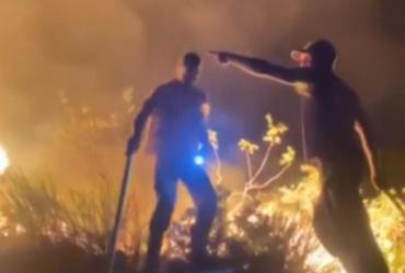 Incêndio atinge parque ecológico que abriga nascentes de rios em Miguel Calmon