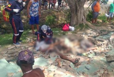 Pai e filho morrem ao serem atingidos por muro de escola em Itabuna