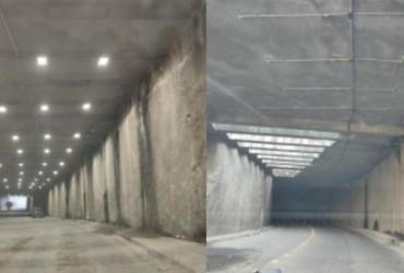 Centenas de projetores são roubados de túnel da Via Expressa | Divulgação