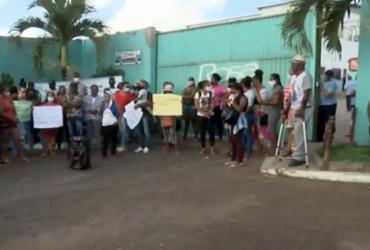 Protesto impede circulação de ônibus em Feira de Santana