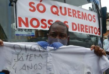 Rodoviários do antigo CSN fazem protesto por direitos trabalhistas | Rafael Martins | Ag. A TARDE