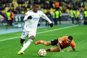 Real Madrid supera Shakhtar com direito a gols de Vini Jr. e Rodrygo | AFP