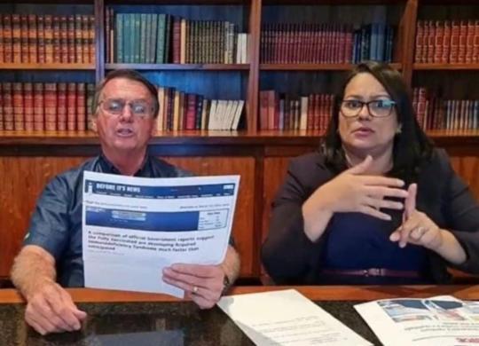 Facebook derruba live em que Bolsonaro associa Aids à vacina da Covid   Foto: Reprodução