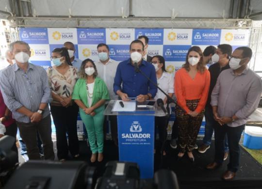 Prefeito lança programa Salvador Solar com foco na economia e meio ambiente   Foto: Marcelo Gandra/ SECIS