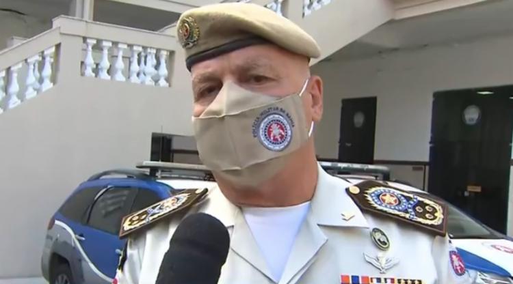o comandante geral da Polícia Militar da Bahia (PM-BA), Paulo Coutinho   Foto: Reprodução   TV Bahia - Foto: Reprodução   TV Bahia