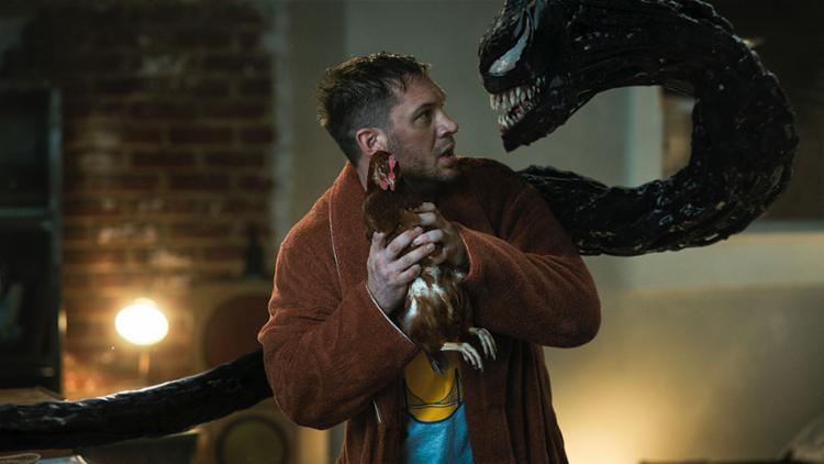 Eddie Brock (Tom Hardy) e sua cara metade: Venom, o monstro camarada   Foto: Sony Pictures   Divulgação - Foto: Sony Pictures   Divulgação
