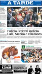 Capa do Jornal A TARDE